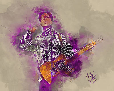 Digital Art - His Royal Purpleness by Malcolm L Wiseman III