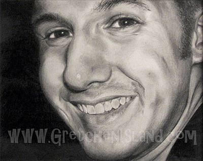Graduation Gift Drawing - His Smile by Gretchen Barota