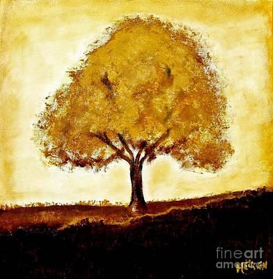 His Tree Art Print by Marsha Heiken