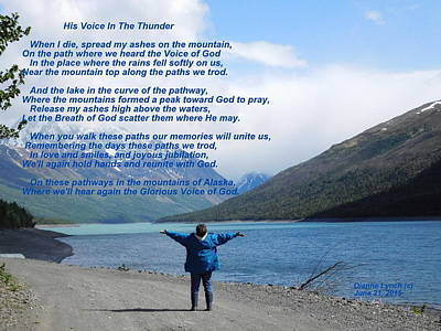 Photograph - His Voice In The Thunder by Diannah Lynch
