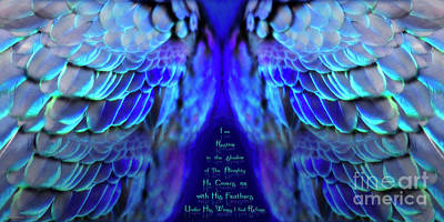 Prophetic Mixed Media - His Wings 2 by Constance Woods