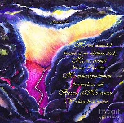Painting - His Wounds Healed Ours by Hazel Holland