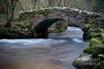 Photograph - Hisley Bridge Lustleigh Cleave by Helen Northcott
