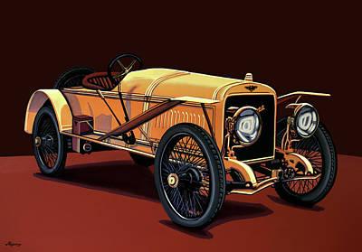 Hispano Suiza T15 Alfonso Xlll 1912 Painting Original