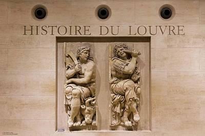 Photograph - Histoire Du Louvre by Hany J