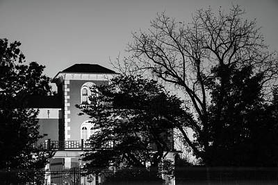 Photograph - Historic 1875 Peel House Mansion - Bentonville - Black And White by Gregory Ballos