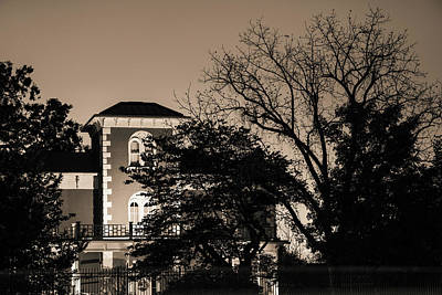 Photograph - Historic 1875 Peel House Mansion - Bentonville - Sepia by Gregory Ballos