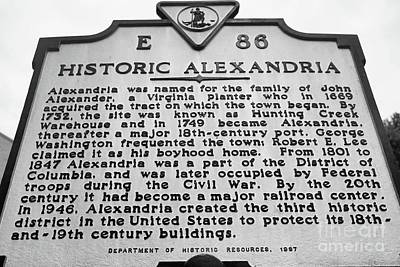 Photograph - Historic Alexandria by John S