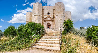Western Art - Historic and famous Castel del Monte in Apulia, Italy by JR Photography