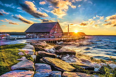 Historic Anderson Dock In Ephraim Door County Art Print