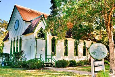 Photograph - Historic Andrews Memorial Chapel Dunedin Florida  4 by Lisa Wooten