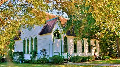 Photograph - Historic Andrews Memorial Chapel Dunedin Florida by Lisa Wooten