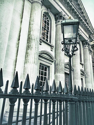 Lamp Worked Photograph - Historic Architecture Detail by Tom Gowanlock