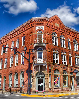 Photograph - Historic Bank Building Lewisburg West Virginia by Kerri Farley