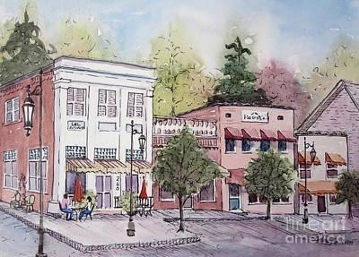 Historic Blue Ridge, Georgia Art Print