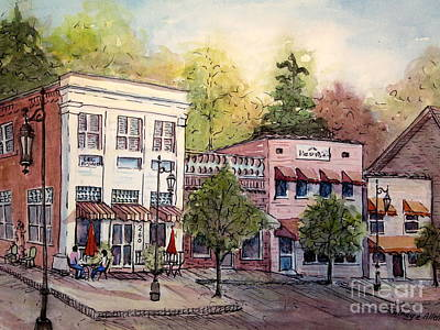 Painting - Historic Blue Ridge Shops by Gretchen Allen