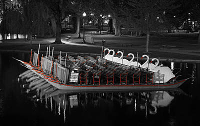 Photograph - Historic Boston Public Garden Swan Boat by Juergen Roth