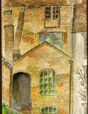 Painting - Historic Brick Houses In Ironbridge by Wendy Le Ber