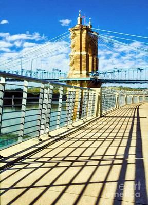 Photograph - Historic Bridge In Cincinnati by Mel Steinhauer