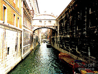 Photograph - Historic Bridge Of Sighs - Venice, Italy by Merton Allen