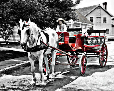 Photograph - Historic Buggy Ride by Raymond Earley