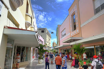 Becky Photograph - Historic Camaguey Cuba Prints Commercial Center by Wayne Moran