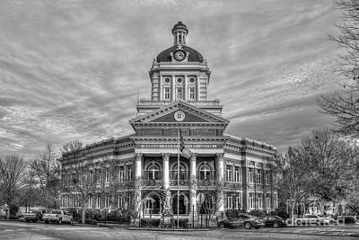 Photograph - Historic Charm B W Morgan County Court House Madison Georgia Architectural Art by Reid Callaway