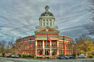 Photograph - Historic Charm Morgan County Court House Madison Georgia Architectural Art by Reid Callaway