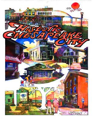 Historic Chesapeake City Poster Art Print