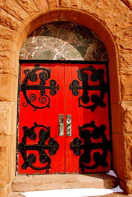 Historic Church Doors Art Print by Sonja Anderson
