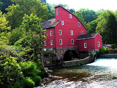 Photograph - Historic Red Mill At Clinton New Jersey  by Jacqueline M Lewis