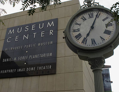 Photograph - Historic Clock Keeps Time With Milwaukee Public Museum by Peter Skiba