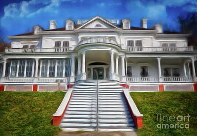 Painting - Historic Cone Manor Blue Ridge Parkway Ap by Dan Carmichael