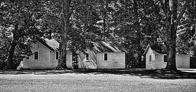 Photograph - Historic Cottages - Mammoth Cave National Park - Kentucky - B/w by Greg Jackson