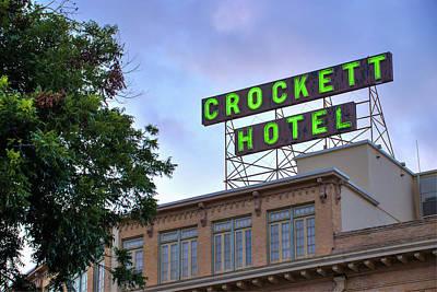 Photograph - Historic Crockett Hotel - San Antonio Texas by Gregory Ballos