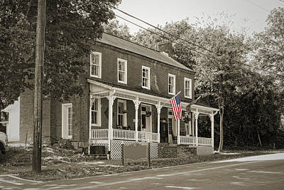 Photograph - Historic Dandridge Home Flag by Sharon Popek