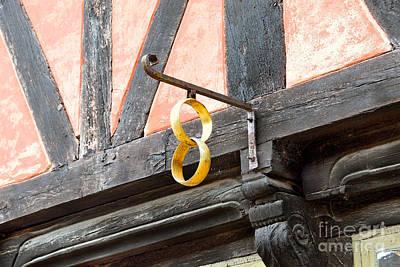 Photograph - Historic Danish Jewelry Store Sign by Catherine Sherman