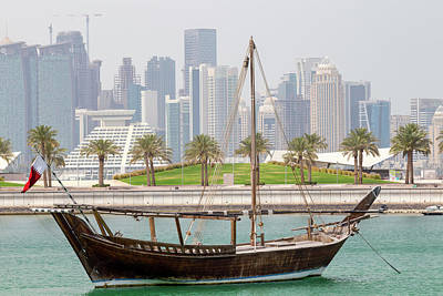 Photograph - Historic Dhow And Towers by Paul Cowan