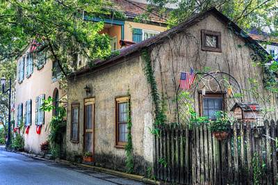 Photograph - Historic District St. Augustine Florida by Carol Montoya