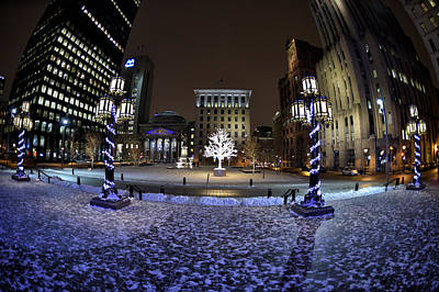 Old Montreal Digital Art - Historic District Winter Scene by Paul Parent