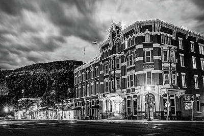 Photograph - Historic Downtown Durango Colorado Along Main Avenue - Black And White by Gregory Ballos