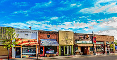 Historic Downtown Emmett 01 Art Print by Robert Bales