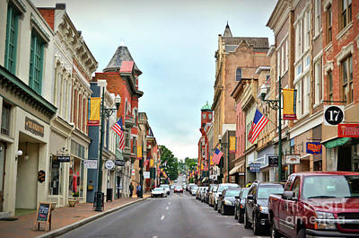 Photograph - Historic Downtown Staunton - Beverley Street by Kerri Farley