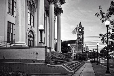 Photograph - Historic Downtown Wilmington North Carolina In Black And White by Greg Mimbs