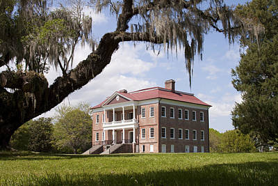 Historic Drayton Hall In Charleston South Carolina Art Print by Dustin K Ryan