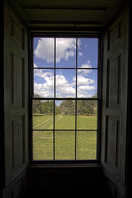 Historic Drayton Hall Window In Charleston South Carolina Art Print