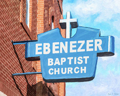 Mixed Media - Historic Ebenezer Baptist Church - Sweet Auburn by Mark Tisdale