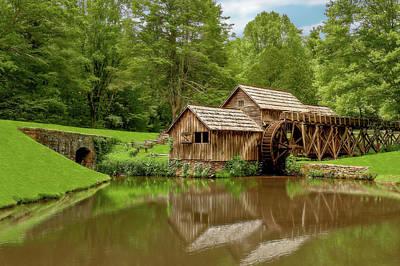 Photograph - Historic Edwin B Mabry Grist Mill  -  Mabrymills185765 by Frank J Benz