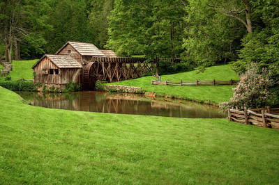 Photograph - Historic Edwin B Mabry Grist Mill  -  Mabrymills185825 by Frank J Benz
