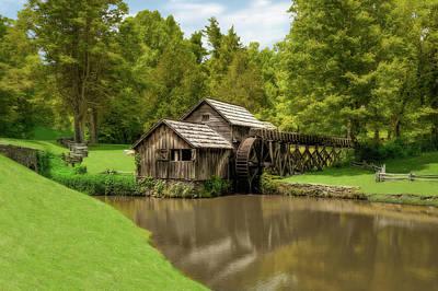 Photograph - Historic Edwin B Mabry Grist Mill  -  Mabrymillsva185782 by Frank J Benz